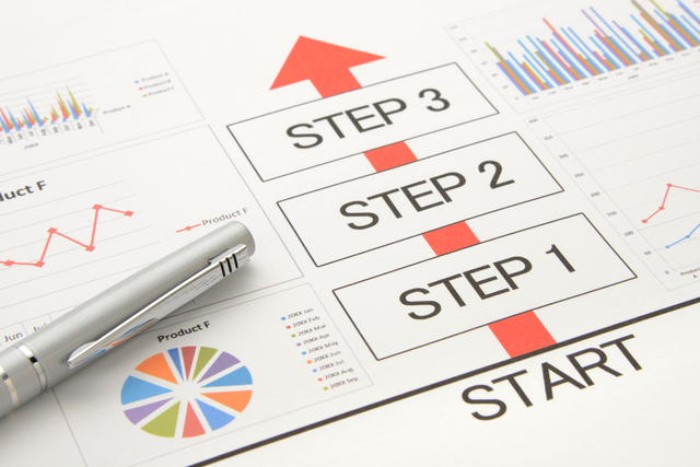 書類作成のステップ